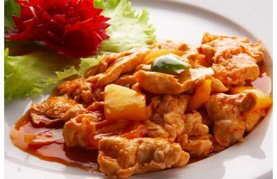 Курица в кисло-сладком соусе (вес 200гр)