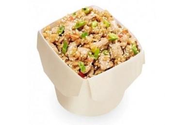 Wok рис с беконом и свининой (вес 290 гр)